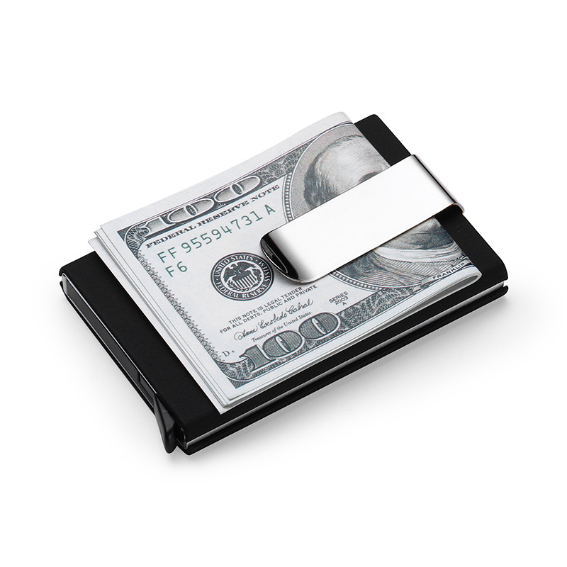 Stainless Steel Slim Money Clip Purse Wallet Credit Card ID Cash Holder Fashion
